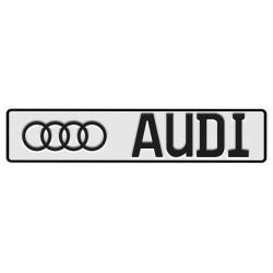 Tablica z logo AUDI