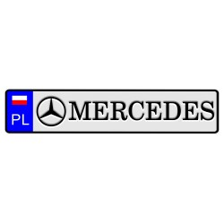 Tablica z logo MERCEDES