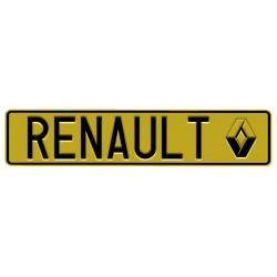 Tablica z logo RENAULT