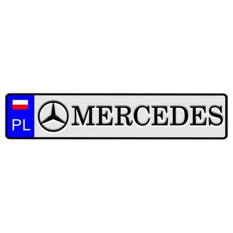Tablica z logo MERCEDES
